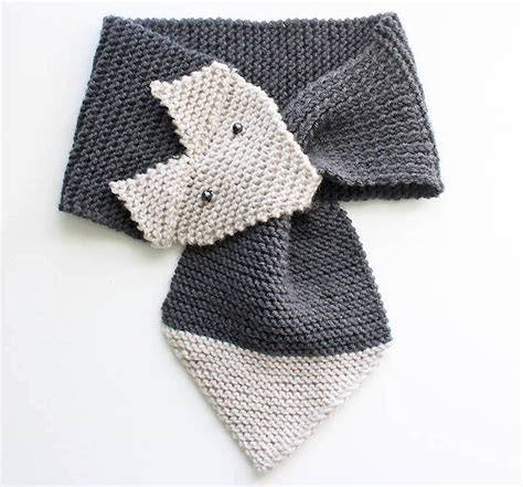 free baby scarf knitting pattern fox scarf knitting pattern child sizes michele