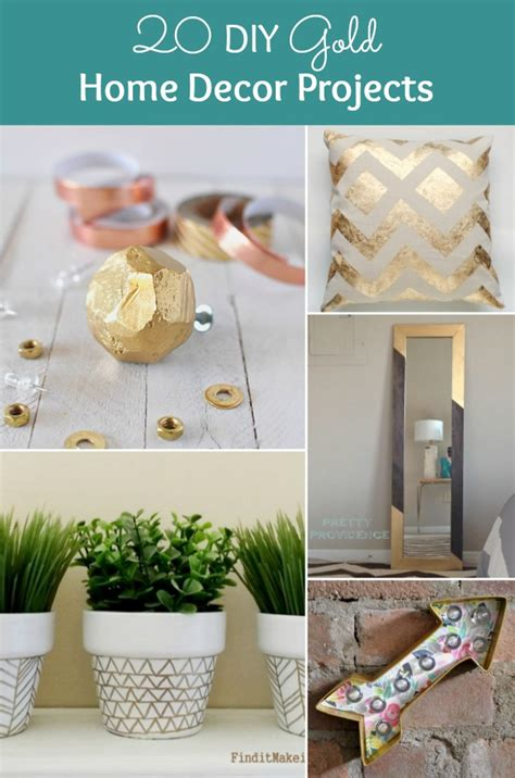 diy crafts projects for home 20 diy gold home decor projects