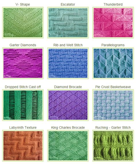 how to knit and purl in the same row stitch patterns using knit purl combinations knitting