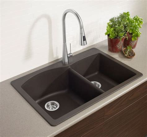 brown kitchen sinks blanco 400343 basin drop in or undermount