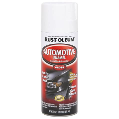 spray painting enamel rust oleum automotive 12 oz enamel gloss white spray
