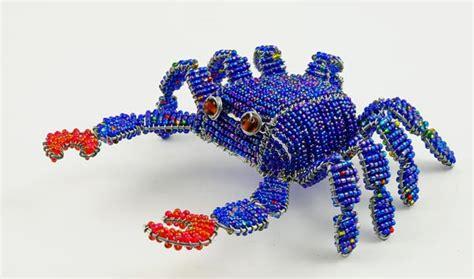 bead and wire animals beaded crab wireworx beaded animal figurine