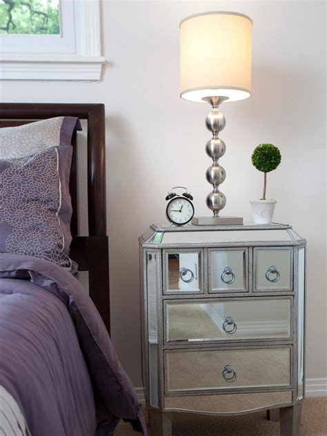 ideas for nightstands bedroom cool mirrored nightstand design with beds and