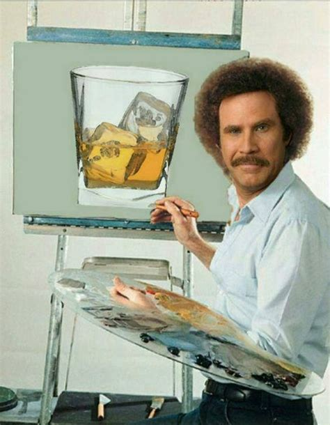 bob ross the happy painter scotch will ferrell and bob ross on