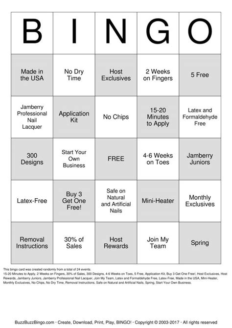 make your own bingo cards jambingo bingo cards to print and customize