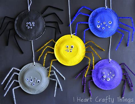 I Crafty Things Paper Plate Spiders