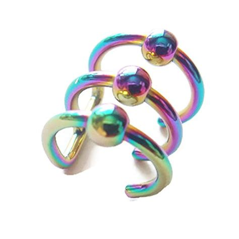 captive bead earrings earrings 14g non piercing helix earcuff captive bead