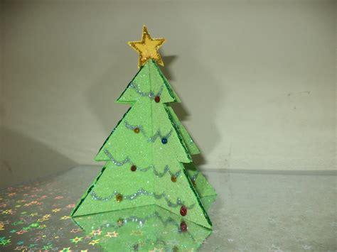 papier weihnachtsbaum glitter paper tree allfreechristmascrafts