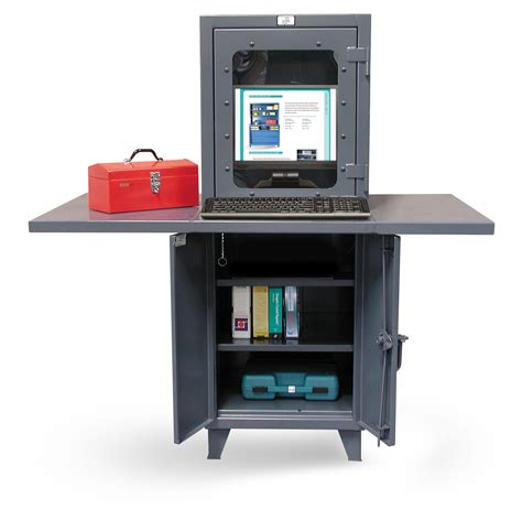 industrial computer desk strong hold products industrial computer workstation