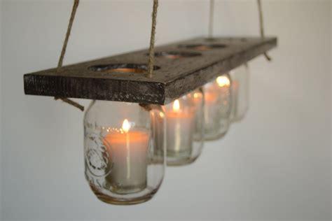 Metal Island Kitchen diy indoor rustic hanging mason jar candle holders
