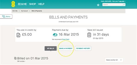 card make payment make or set up a payment help ee