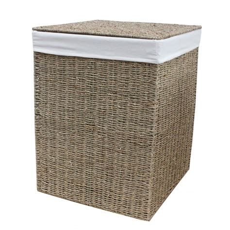 square laundry seagrass square laundry basket lined