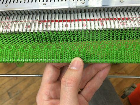 how to cast on a knitting machine machine knitting 101 knit