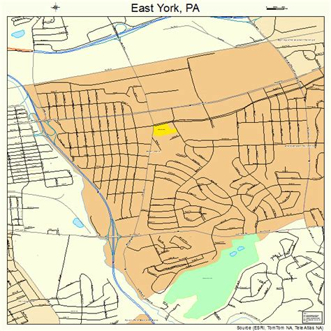 york pa east york pennsylvania map 4222104