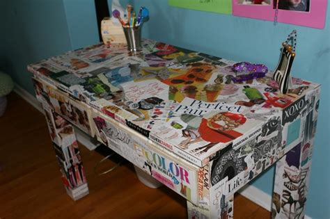 decoupage desk image detail for decoupage desk project for tweens and