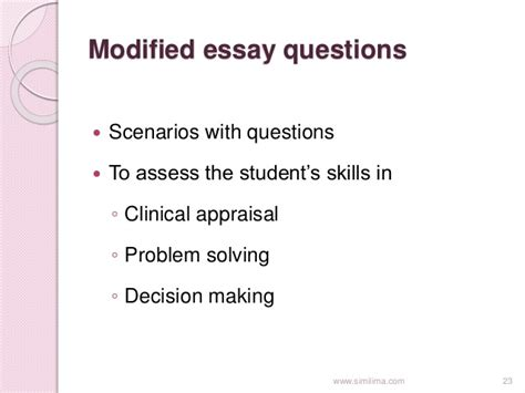 Modified Definition Of modified essay question definition illustrationessays
