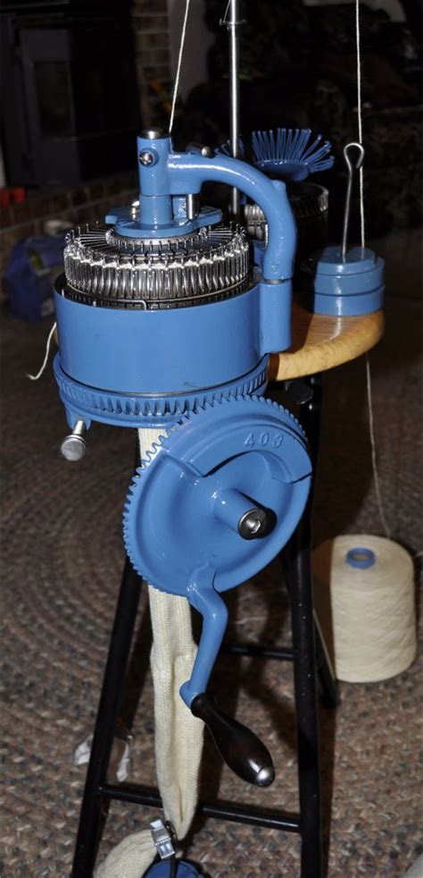 sock knitting machine for sale blue powder coated legare 400 sock knitting machine for sale