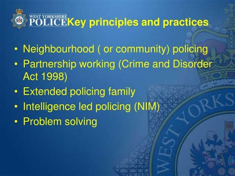 community policing partnerships for problem solving ppt comparing policing in the uk and usa sgt richard