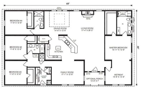 simple four bedroom house plans ranch house floor plans 4 bedroom this simple no