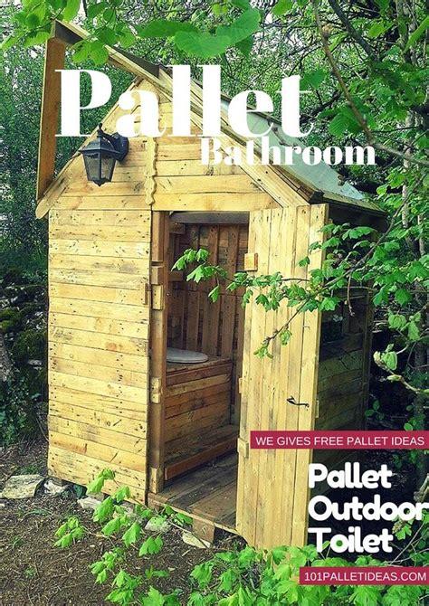 Eco Outdoor Toilet by Pallet Outdoor Toilet Pallet Bathroom
