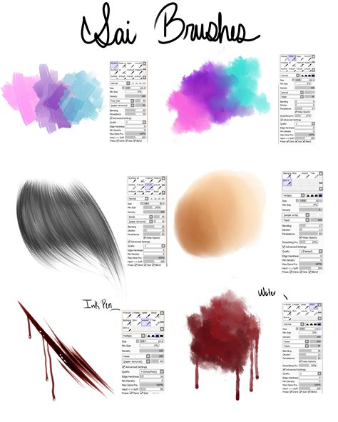 paint tool sai with brushes my brushes for paint tool sai by raikou on deviantart