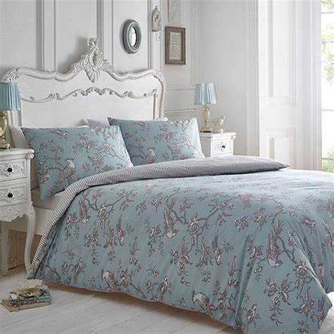 home bedding sets home collection blue and grey curious bird bedding set