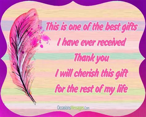 thank for gift thank you messages for birthday gift occasions messages