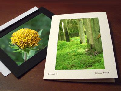 how to make cards to sell nature photo cards