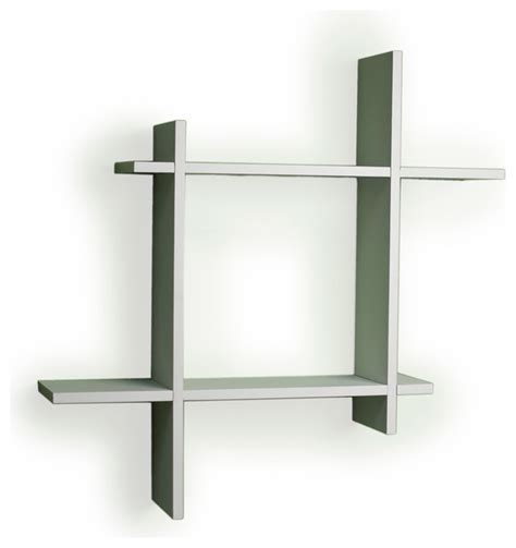 contemporary wall shelves asymmetric laminate square floating wall shelf white