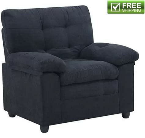 black living room chair microfiber armchair black comfortable soft padded living