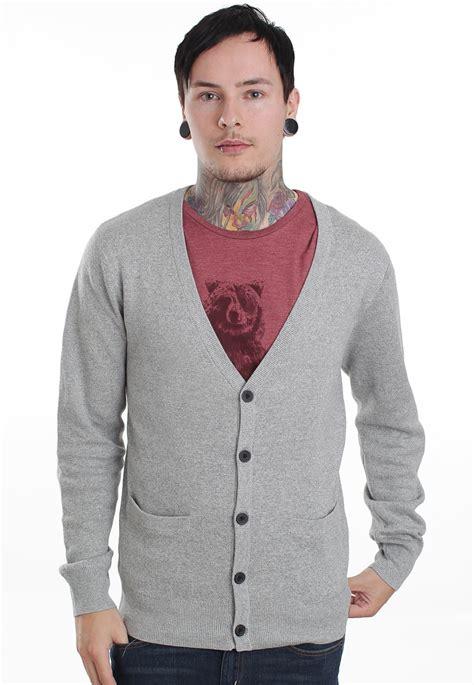 cardigans uk quiksilver burn light grey cardigan