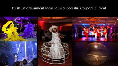 entertainment ideas fresh entertainment ideas for a successful corporate event