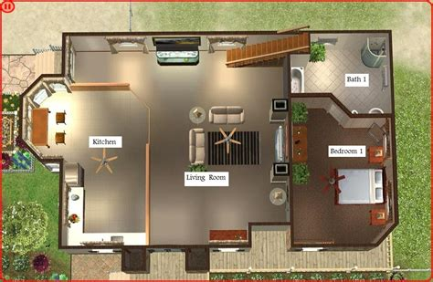 Bathroom Modern floor plant sims 3 beach house blueprints all about house