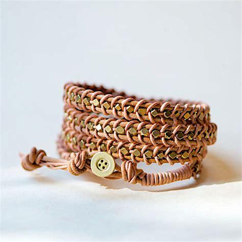 how to make a beaded wrap bracelet how to make a leather wrap bracelet leather bracelets