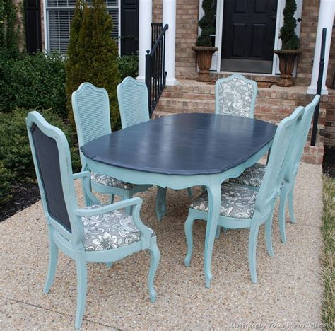 chalk paint dining room table vintage thomasville dining room table refinished in
