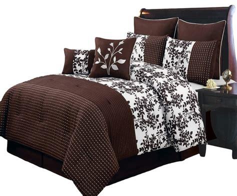 luxury comforter sets california king bliss chocolate luxury 8 comforter set cal king