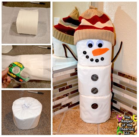 toilet paper roll snowman craft toilet paper snowman craft