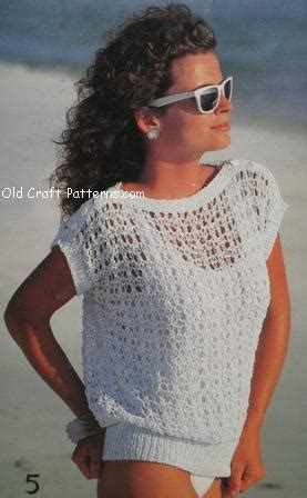 knitted cotton top patterns patons 484 knitting patterns for cotton summer sweater