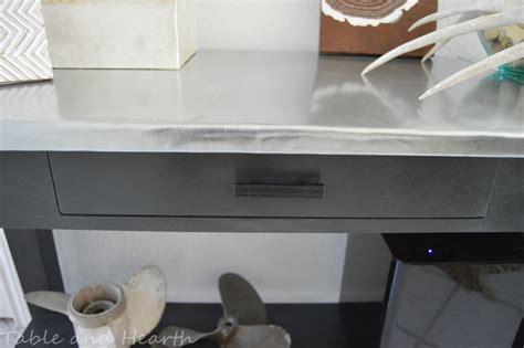 Counter Top Materials remodelaholic diy metal table top tutorial