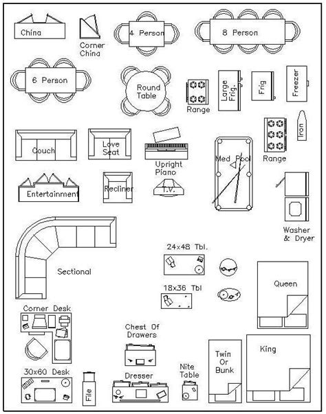 Furniture Arrangement Software free 1 4 furniture templates dream home pinterest