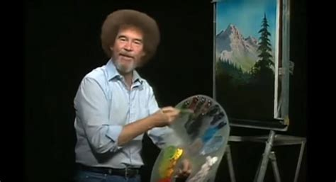 bob ross painting real bob ross had hair and other intriguing tales