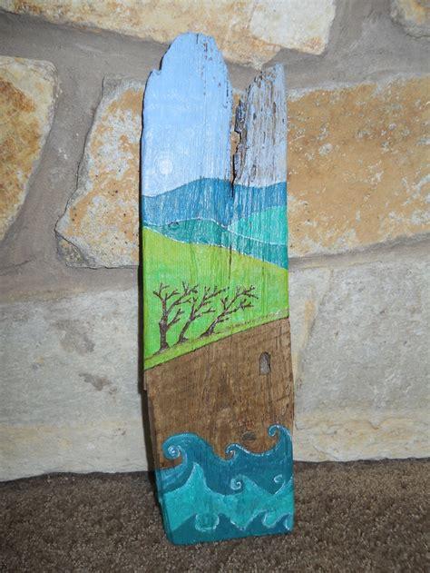 acrylic paint on wood ideas acrylic painting on driftwood painted driftwood