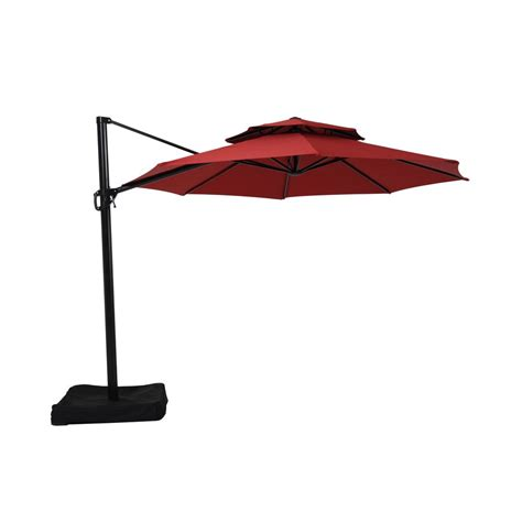 10 ft offset patio umbrella garden treasures 11 ft x 11 ft offset octagon patio