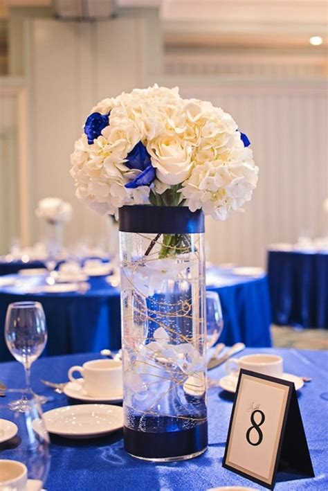 blue and silver centerpieces royal blue centerpieces on royal blue weddings