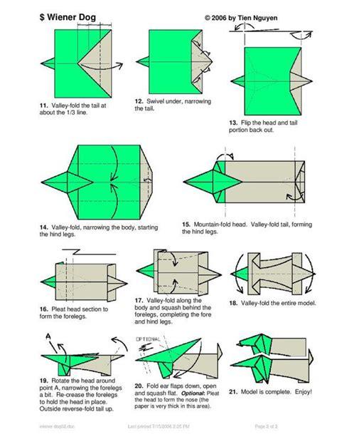 dachshund origami dachshund dollar origami pet animal made of real money