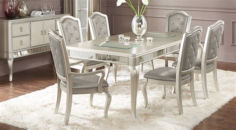 rooms to go dining room chairs sofia vergara silver 5 pc dining room dining room