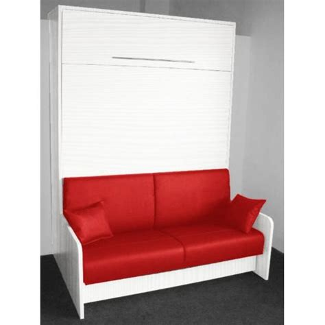 leader bed armoire lit escamotable space sofa ch 234 ne blanc canap 233 int 233 gr 233 couchage 160