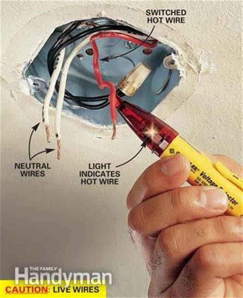 How To Wire A Light Fixture How To Hang A Ceiling Light Fixture The Family Handyman