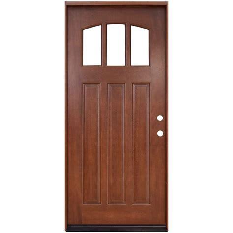 wood door steves sons 36 in x 80 in craftsman 3 lite arch