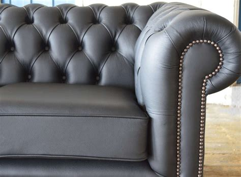 grey leather chesterfield sofa chesterfield sofa grey leather chesterfield grosvenor 3